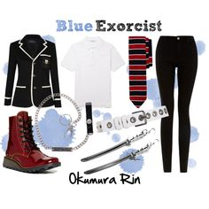 """""""Blue Exorcist: Okumura Rin"""" by jak-jojo on Polyvore. (Ao No Exorcist)"""