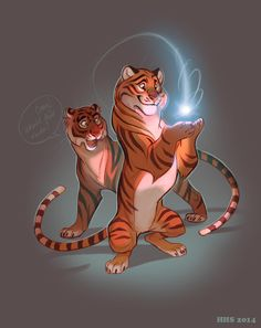 Tigars by VixieArts.deviantart.com on @deviantART