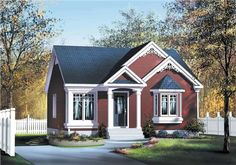 This house plan features a long area with dining and living spaces being accommodated. The master bedroom of this house plan has a bay window in its design.