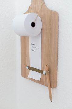 Clevere Gedächtnisstütze für die Küche - Eine Papierrolle als Einkaufszettel