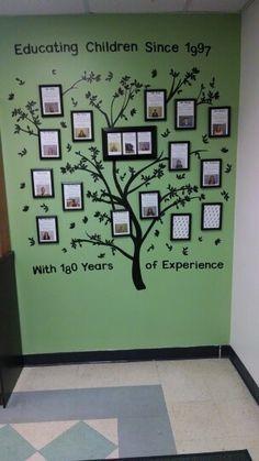 Tree I made for staff bios.