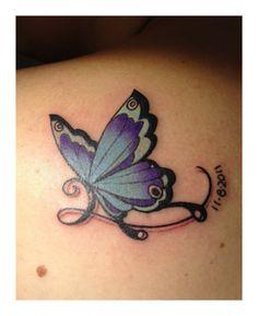Purple Butterflies Tattoos