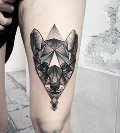 Before you get a wolf tattoo, you have to know about wolves itself. A wolf is a powerful and intelligent animal that lives in packs and can survive no Wolf Tattoos Men, Animal Tattoos, Tattoos For Guys, Wolf Tattoo Design, Tattoo Designs, Tattoo Ideas, Lone Wolf Tattoo, Geometric Wolf Tattoo, Black And White Painting