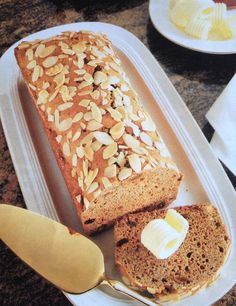 The German Coffee Honey Cake is easy to make and tastes wonderful when you spread butter on the slices. Original German recipe.