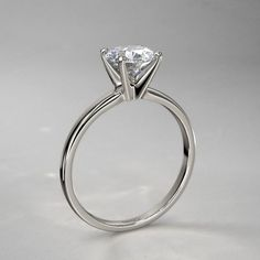 I like how this sits up too! But I really want 6-prongs  Timeless Four-Prong Round Solitaire Engagement Ring in 14k White Gold