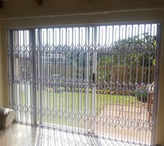 #CrimeStopper / #Limax #Security #Monkey #Proof #Expandable Security #Gate  This product is specially designed for the monkey invested areas. We added an additional upright to the gate to narrow the openings. This does not affect the stacking width of the gate; the gate design is the same as our SU20 product with added features.