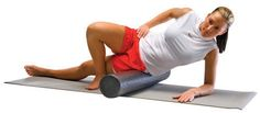 Foam rolling your outer thigh helps get rid of cellulite