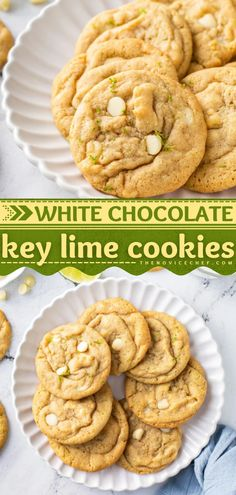 Love key lime? Then you have to try this dessert idea! Soft, chewy, and irresistibly delicious, these white chocolate chip cookies are sure to become a favorite. Check out how you can change up the flavor in this cookie recipe! Popular Cookie Recipe, Favorite Cookie Recipe, Easy Cookie Recipes, Healthy Dessert Recipes, Delicious Desserts, Candy Recipes, Brownie Recipes, Easy Chocolate Desserts, Iced Sugar Cookies