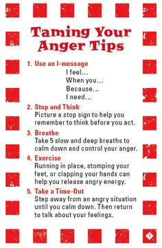 Taming Your Anger Tips from the game Mad Dragon: An Anger Control Card Game I liked this, thanks, Tom D @Gail Regan Truax://www.reignitedrelationships.com/