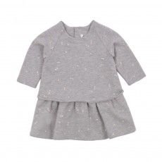 Robe Molleton Imprimée Bébé Gris chiné
