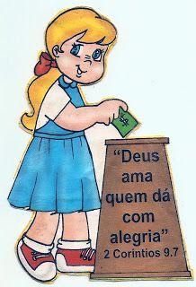 MINISTÉRIO BÍBLICO INFANTIL VIRTUAL_por KAROLLINE POERNER: MENINA OFERTANDO
