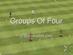 Groups Of Four - A classic passing drill - Free Soccer Drills on Soccerpilot.com - YouTube
