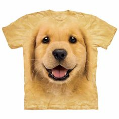 The Mountain Human T-Shirt - Golden Retriever Puppy Face