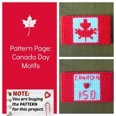 Plastic Canvas Pattern Page: Canada Day 2