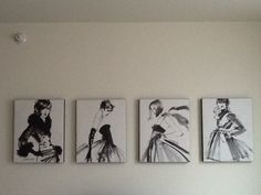 Vintage fashion wall art