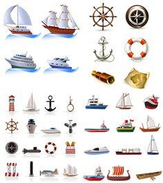 vector | Boats vector set | Vector Graphics Blog