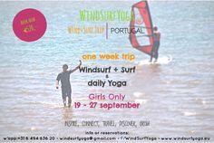 GirlsOnly september'15 #Portugal #obidos #fozdoarelho windsurfyoga.eu