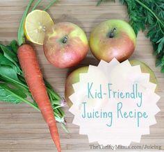 Kid-Friendly Juicing Recipe http://www.thethriftymama.com/easy-kidfriendly-juicing-recipe.html