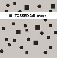 Definition: tossed (all-over)  | Pattern-Method.com