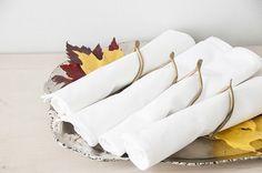 clay wishbones as napkin rings