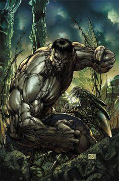 Grey Hulk by Michael Turner