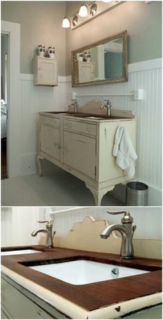Upcycled Buffet Vanity