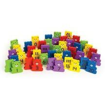 Excellerations Wooden Bear Dominoes - Set of 42. Sturdy wooden bear dominos are bright and fun for number recognition and object to numeral activities. This endearing set features a friendly face and numbers (1-20) on the front and corresponding number of dots on the back of each bear. Click to see correlating Common Core standards.