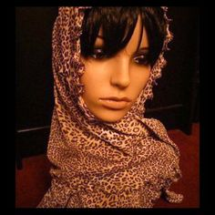 Beautiful leopard scarf. Brand new and on Sale! Beautiful long scarf..made to be worn a variety of different ways. Accessories Scarves & Wraps