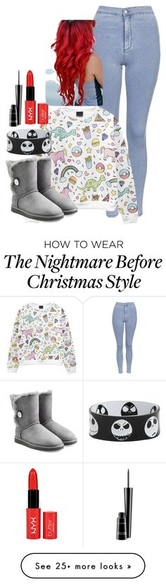 """""""Plz go follow her!!!"""" by misshappy123 on Polyvore featuring Topshop, UGG Australia and MAC Cosmetics"""