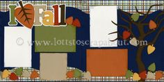 I Love Fall Scrapbook Page Kit