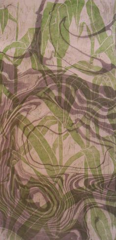 How to do suminagashi (japanese paper marbling with sumi ink) [image: Corn Sumi, 24x48 in, by Andrea Peterson]