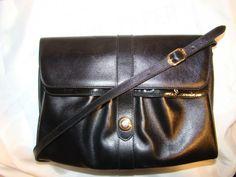 Pre Owned Authentic Salvatore Ferragamo Black Patent Leather Calfskin Clutch | eBay