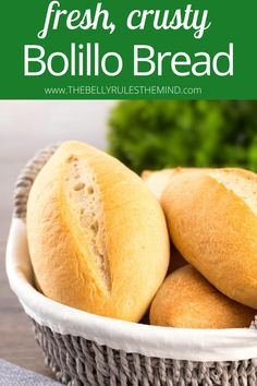 Bolillo bread is a delicious variation of a baguette. With a crunchy crust and soft, fluffy center, this homemade bread has an addictive blend of textures you'll love. This savory bread will have you making it over and over again to enjoy the perfection of freshly baked goodness.