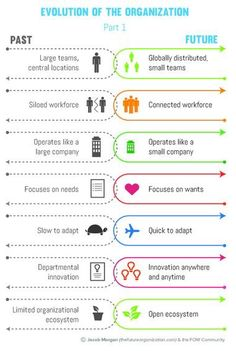 Evolution of the organization