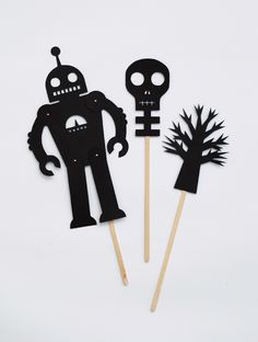 DIY Halloween shadow puppets!