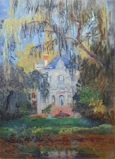 1876 Claude Monet The house at Yerres(private collection)(80 x 61 cm)