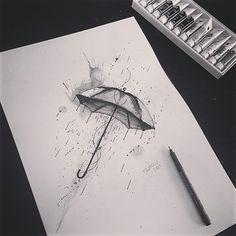 Umbrella Watercolor Tattoo                                                                                                                                                                                 More