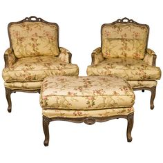 French Louis XV Style Duchesse Brisee by Jansen | From a unique collection of antique and modern bergere chairs at http://www.1stdibs.com/seating/bergere-chairs/