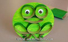 grenouille bricolage en rouleaux de papier WC
