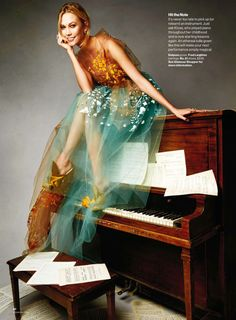 Karlie Kloss in Delpozo By Patrick Demarchelier For Us Glamour