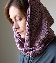 The Canaletto cowl is wide and luxurious, and emphasizes geometric lines and simple textures. Bands of seed stitch and eyelets are intersected by stocking stitch, and each texture catches the light differently. The stacked eyelets create a gentle bias, adding to the cowl's flexibility for looping around your neck. Pattern includes two sizes; the larger size can be looped twice; the smaller size makes a neck hugging warmer. Suitable for the adventurous beginner.