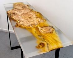 Hand crafted live Edge furniture from salvaged trees por NaturesbeautyStore Epoxy Table Top, Slab Table, Resin Table, Wood Tables, Live Edge Furniture, Resin Furniture, Dining Furniture, Tree Furniture, Epoxy Resin Wood
