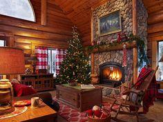 Santa Home Tour - step into this magical log cabin of Santa and Mrs. Claus kellyelko.com