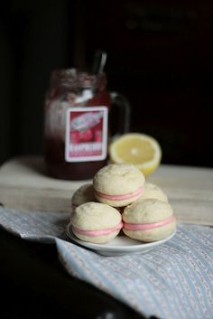 Raspberry Lemon Cream Cheese Whoopie Pies