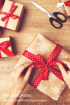 Geschenke richtig zu verpacken, das will gelernt sein - wir zeigen dir wie's geht! 🎁 #weihnachten #christmas #diy #selbermachen #ilesto #gartenhaus #gartenhütte #aufbewahrungsbox #kissenbox #geschenk #verpacken #basteln #ideen Gift Wrapping, Garden Cottage, Christmas Tree, Make Your Own, Studying, Tips, Crafting, Ideas, Gift Wrapping Paper