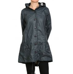 Dusty Parka Indigo this is lovely in real life as raincoats go...