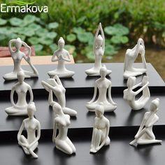 Yoga Studio Decor, Yoga Decor, Yoga Studio Home, Sculptures Céramiques, Resin Sculpture, Modern Sculpture, Ceramic Decor, Ceramic Art, Ceramic Materials