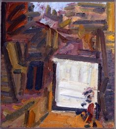 FRANK AUERBACH Next Door, 2012 oil on board 20 × 18 in 50.8 × 45.7 cm