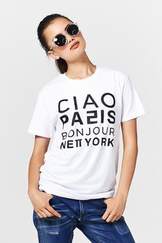 Coop Bonjour Ciao Tee at Wendys Boutique