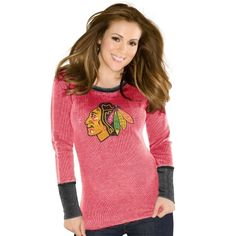 Women's Chicago Blackhawks Touch by Alyssa Milano Red Kari Thermal